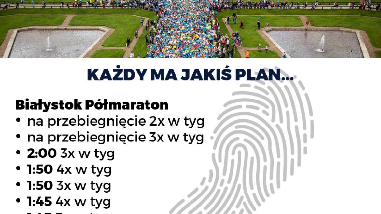 Plany treningowe dla 5. PKO Białystok Półmaraton